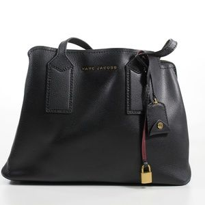 MARC JACOBS  The Editor Black Leather Tote